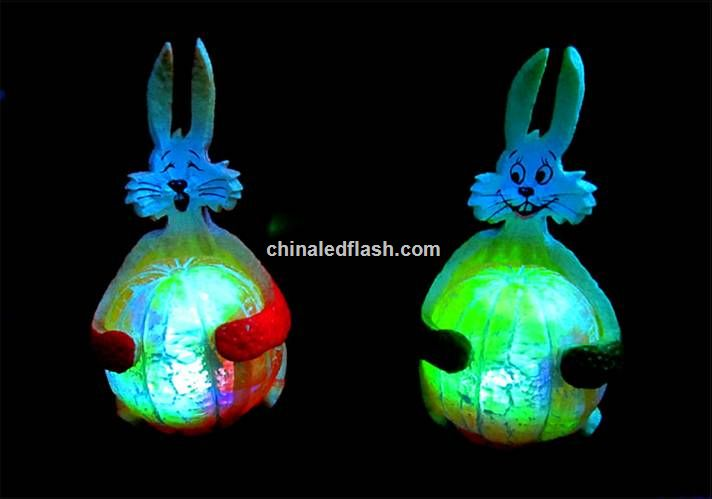 Rabbit Shape Flashing Plastic Toy