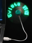 USB Flashing Messages Fan