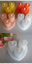 3PCS/Set Heart Shape Rechargeable LED Tea Light Candles