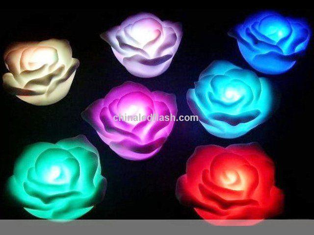 agua activada flotantes velas led con forma de flor
