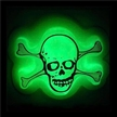 glowing badge for skull