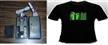 EL/EL flashing/sound active/equalizer T-shirt
