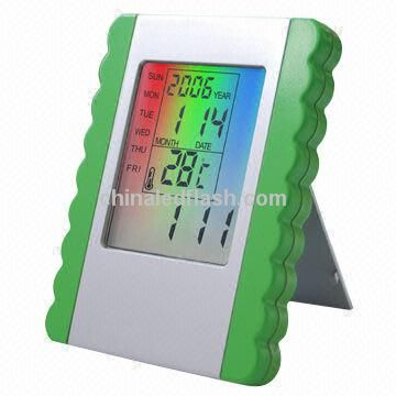 Promotional Digital Clock with Alarm and LED Backlight Flashing