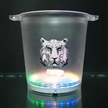 Ice Bucket with LED Light, Made of GPPS and ABS Base Materials, 8L Capacity