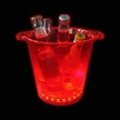 LED Flashing Ice Bucket, Made of PS Material