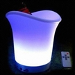 LED Ice Bucket, Double Wall PP Bucket and ABS Base
