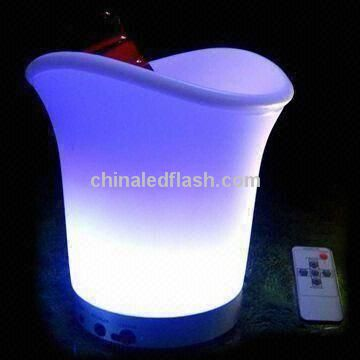 Remote Control Rechargeable LED Ice Wine Bucket, 7 Colors Change
